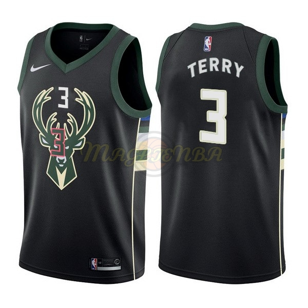 Maglia NBA Nike Milwaukee Bucks NO.3 Jason Terry Nero Statement 2017-18