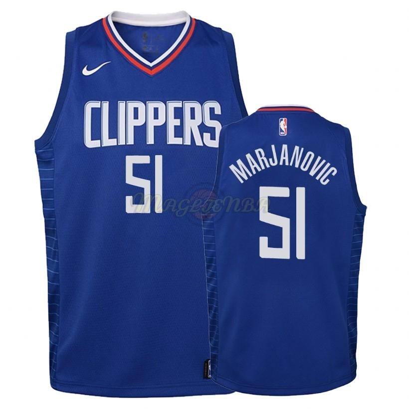 Maglia NBA Bambino Los Angeles Clippers NO.51 Boban Marjanovic Blu Icon 2018