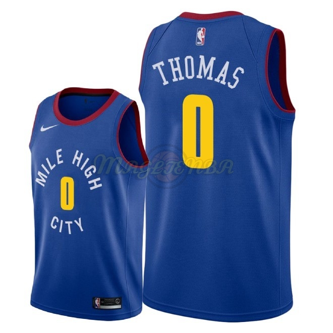 Maglia NBA Nike Denver Nuggets NO.0 Isaiah Thomas Blu Statement 2018-19