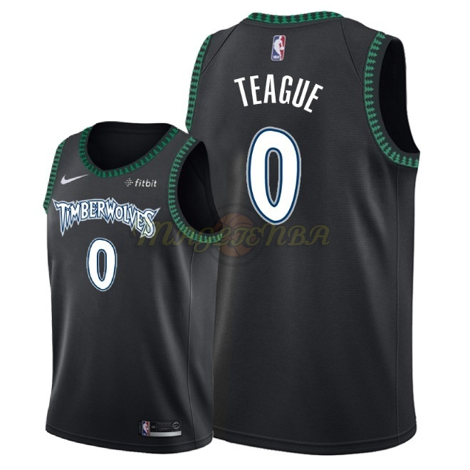 Maglia NBA Nike Minnesota Timberwolves NO.0 Jeff Teague Retro Nero 2018