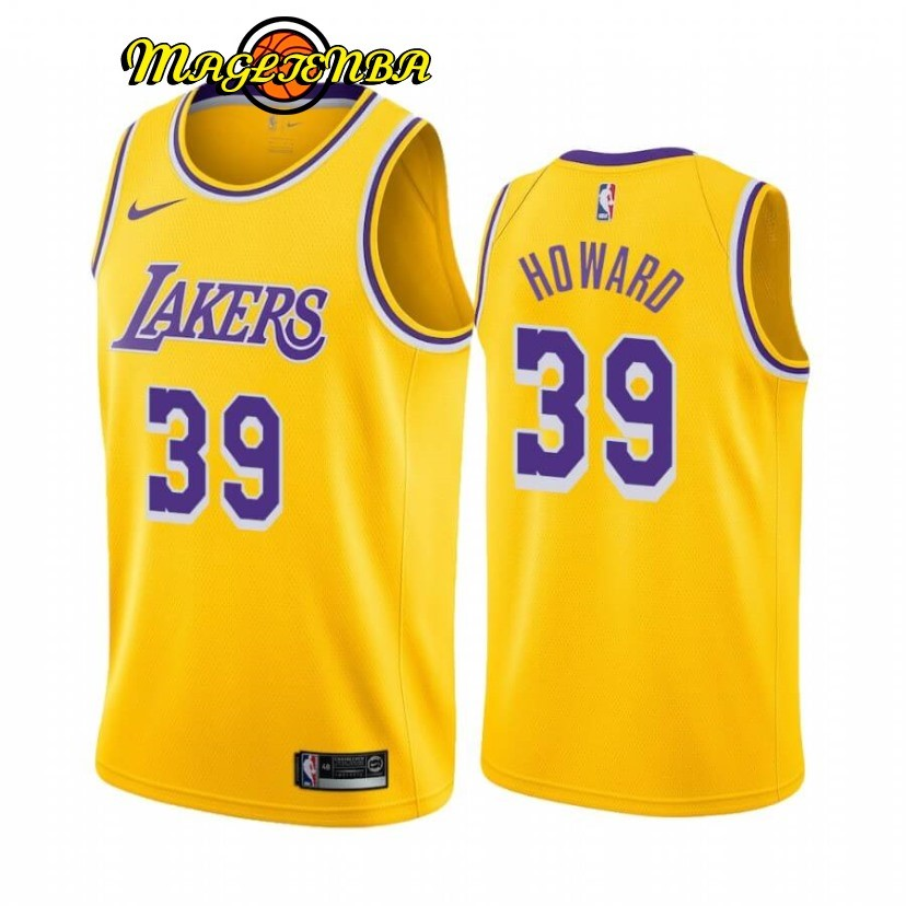 Maglia NBA Nike Los Angeles Lakers NO.39 Dwight Howard Giallo Icon 2019-20