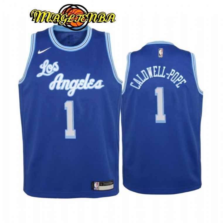 Maglia NBA Bambino Los Angeles Lakers NO.1 Kentavious Caldwell Pope Blu 2020-21