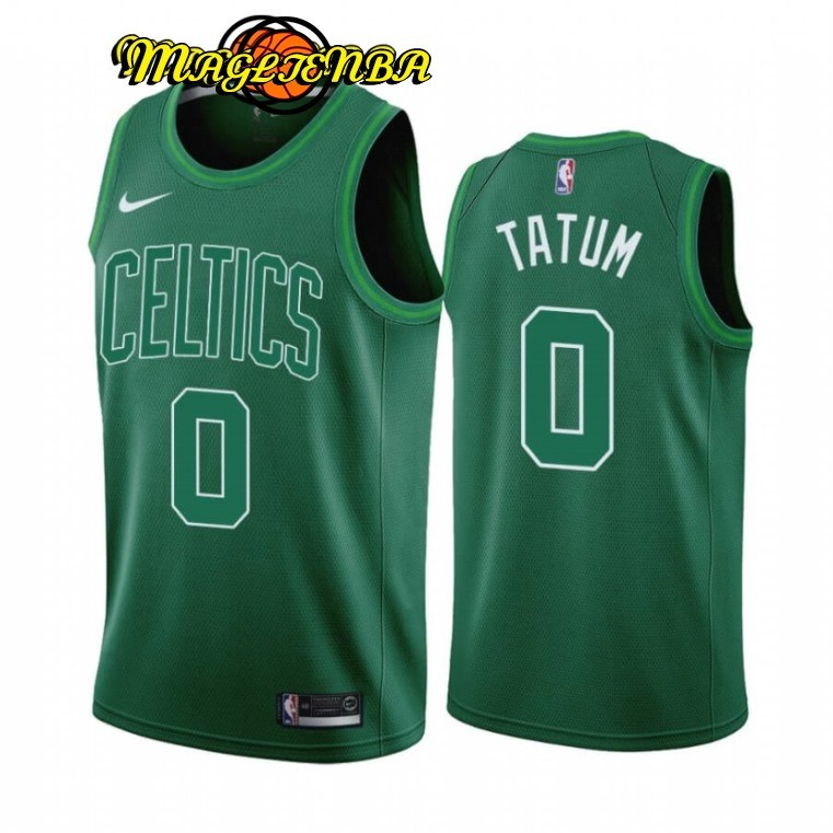 Maglia NBA Earned Edition Boston Celtics NO.0 Jayson Tatum Verde 2020-21