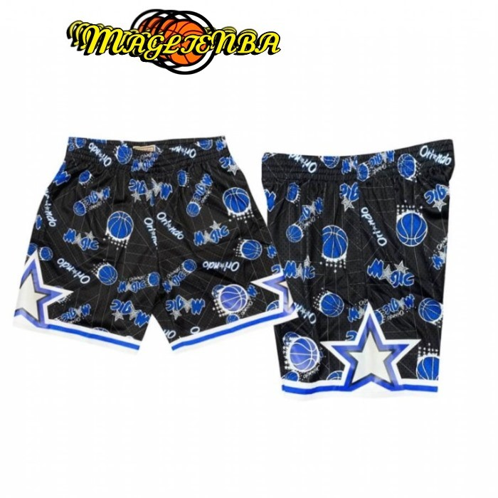 Pantaloni Basket Orlando Magic Tear Up Nero Hardwood Classics