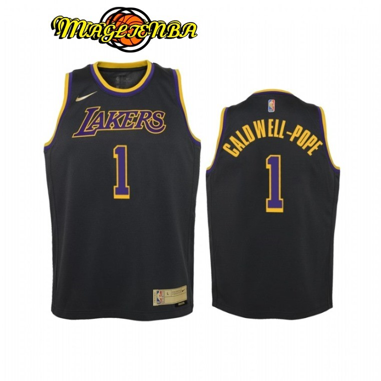 Maglia NBA Bambino Earned Edition Los Angeles Lakers NO.1 Kentavious Caldwell Pope Nero 2021
