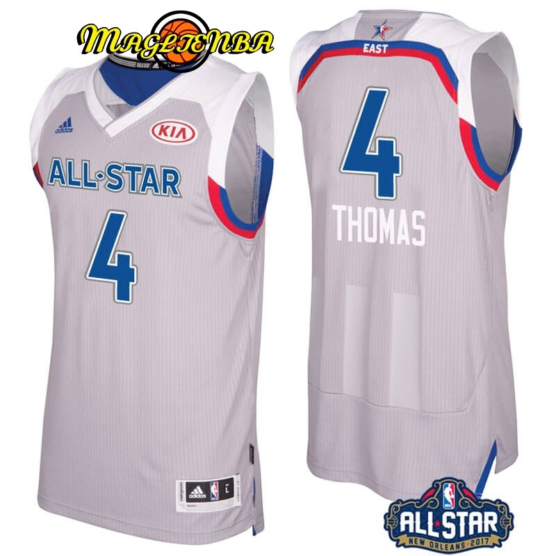 Maglia NBA 2017 All Star NO.4 Isaiah Thomas Gray